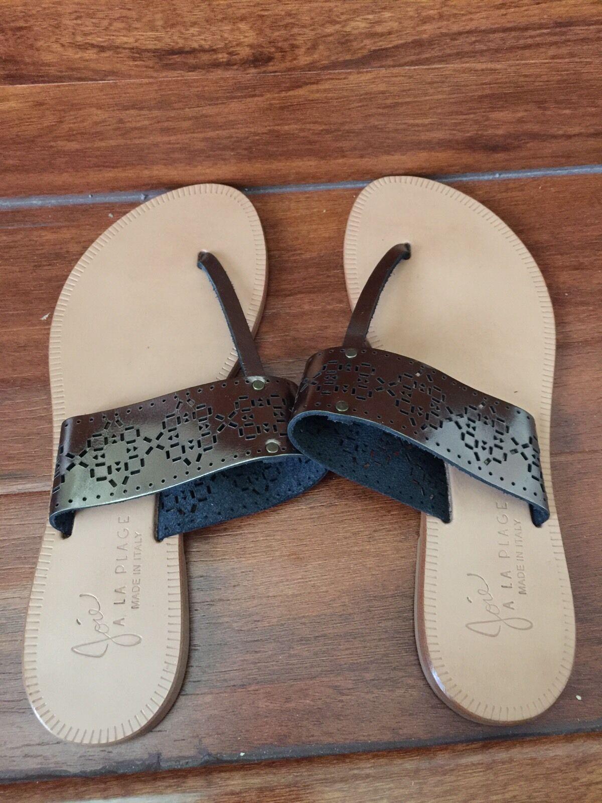 155 NEW Joie Gunmetal color Sandals Size 37