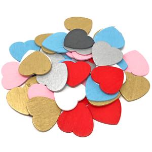 Multicolor 28mm Amor Corazones De Madera Shabby Chic Corazón de Color Artesanía Álbum de recortes