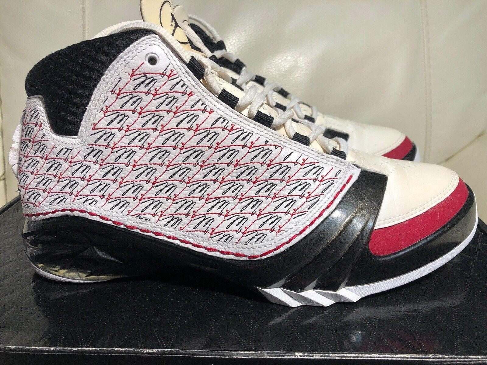 Buenas Condiciones Jordan Jordan Jordan 23 XX3 All Star Air blancooo Negro Rojo 2008 318376 -101 Talla 7.5 5dfb67