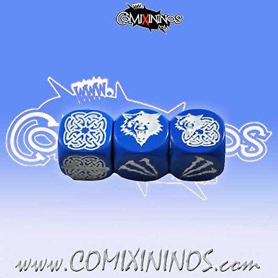 Adattabile Fantasy Football - Set Of 3 Block Dice Blue For Blood Bowl Norse - Meiko