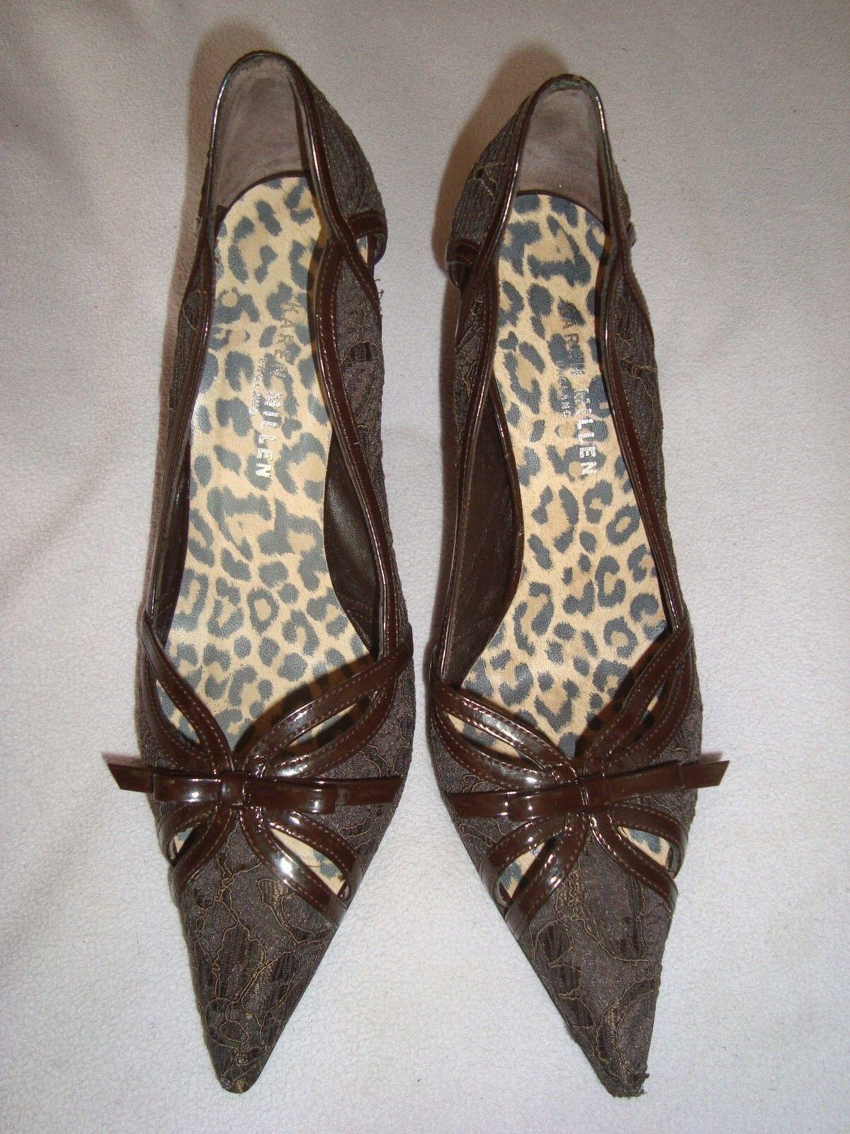 Karen Millen Marrón Encaje Zapatos De De Zapatos Charol/ .00 06f2ec