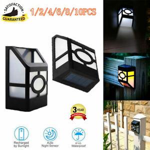 New-solaire-2-led-jardin-chemin-down-lumiere-solaire-exterieur-fence-nuit-lampe