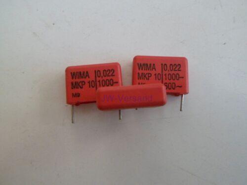 * 5 unid Wima mkp-10 impulso condensadores 0,022µf 1000vdc//600vac
