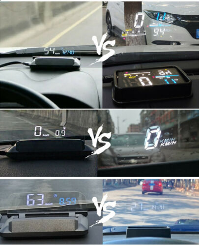 Car HUD Head Up Display Overspeed Warning OBD 2 Windshield Speedometer Projector