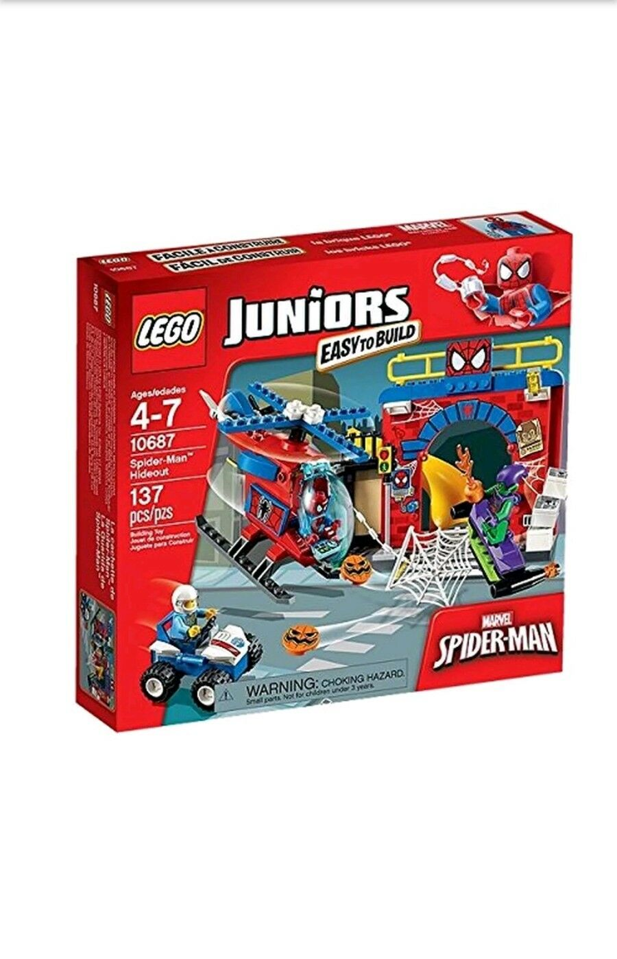 LEGO 10687 Juniors Marvel Spider-Man Hideout and Grün Goblin Set BRAND NEW
