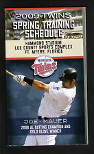 Joe Mauer--2009 Minnesota Twins Spring Training Schedule--Bud Light
