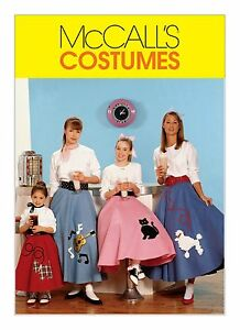 Image Is Loading McCalls SEWING PATTERN M6101 Poodle Skirt Amp Petticoat