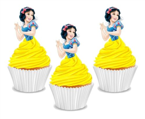 #597. Snow White Disney Princess Edible Cupcake Cake Toppers Birthday