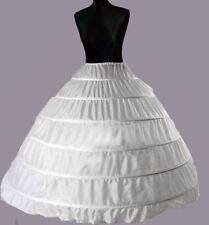 6 Layers White Bridal Wedding Skirt Dress Petticoat Underskirt Crinoline S-XL UK