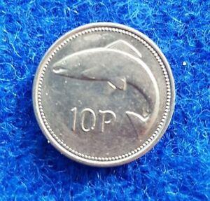 old irish 10p coin