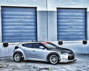 Details about Hyundai Veloster Fender flares CONCAVE wide body kit Arch  Extensions 70mm + 90mm