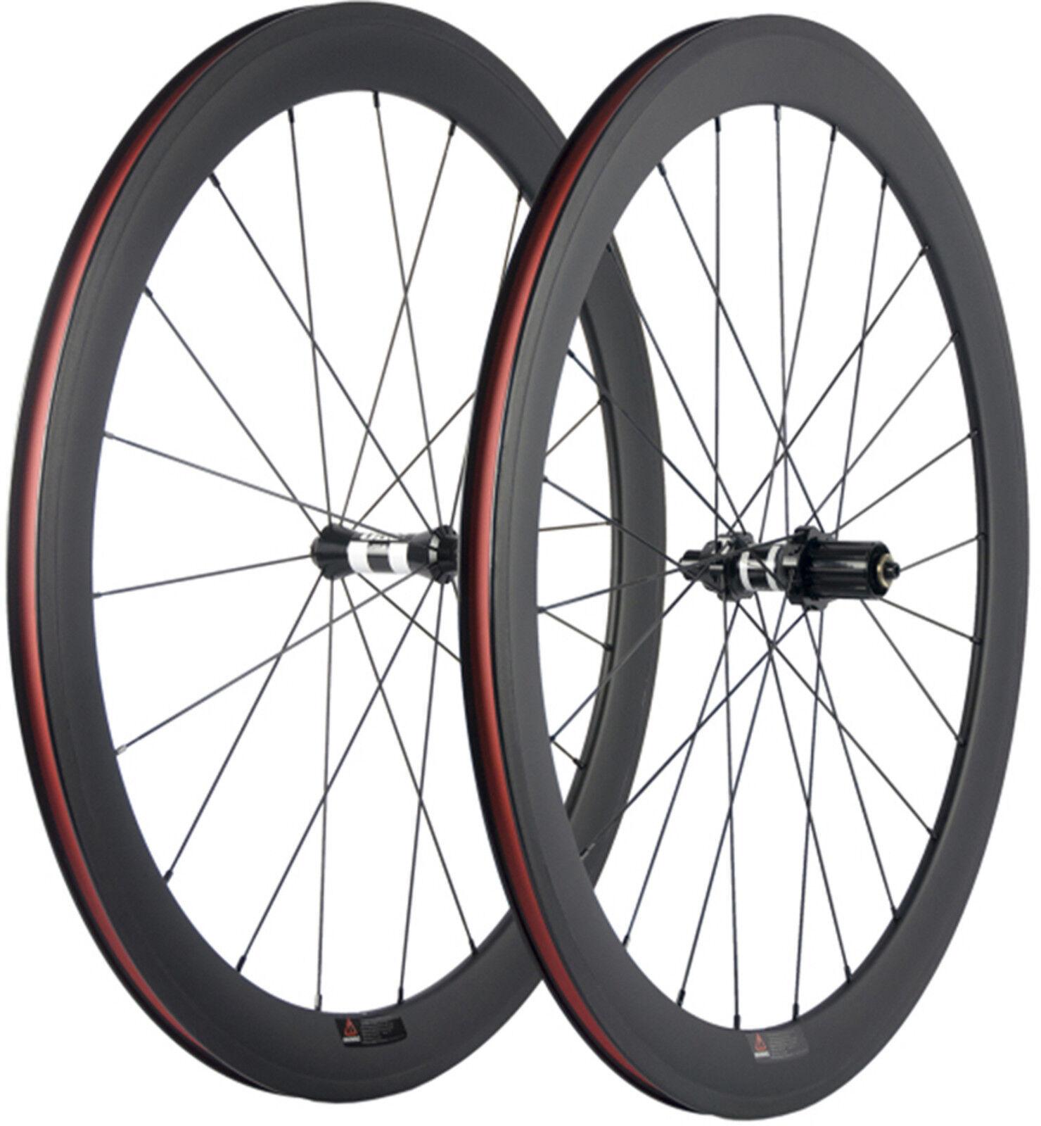 50mm Clincher Carbon Wheelset 23mm Width Bike Road Wheels DT350 Swiss 700C Wheel
