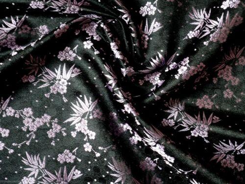 Tela desde china-tela decorativa bambú y flor del cerezo negro METERWARE