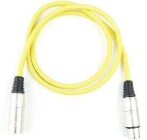 Veranstaltungs- & Dj-equipment Methodisch 1 M Mikrofonkabel Adam Hall K3 Mmf 0100 Gelb Xlr Xlr 3 Pol Dmx Mikrofon Kabel Weich Und Leicht Kabel, Leitungen & Stecker