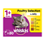thumbnail 11 - 80 x 100g Whiskas 1+ Adult Wet Cat Food Pouches Mixed Poultry Jelly