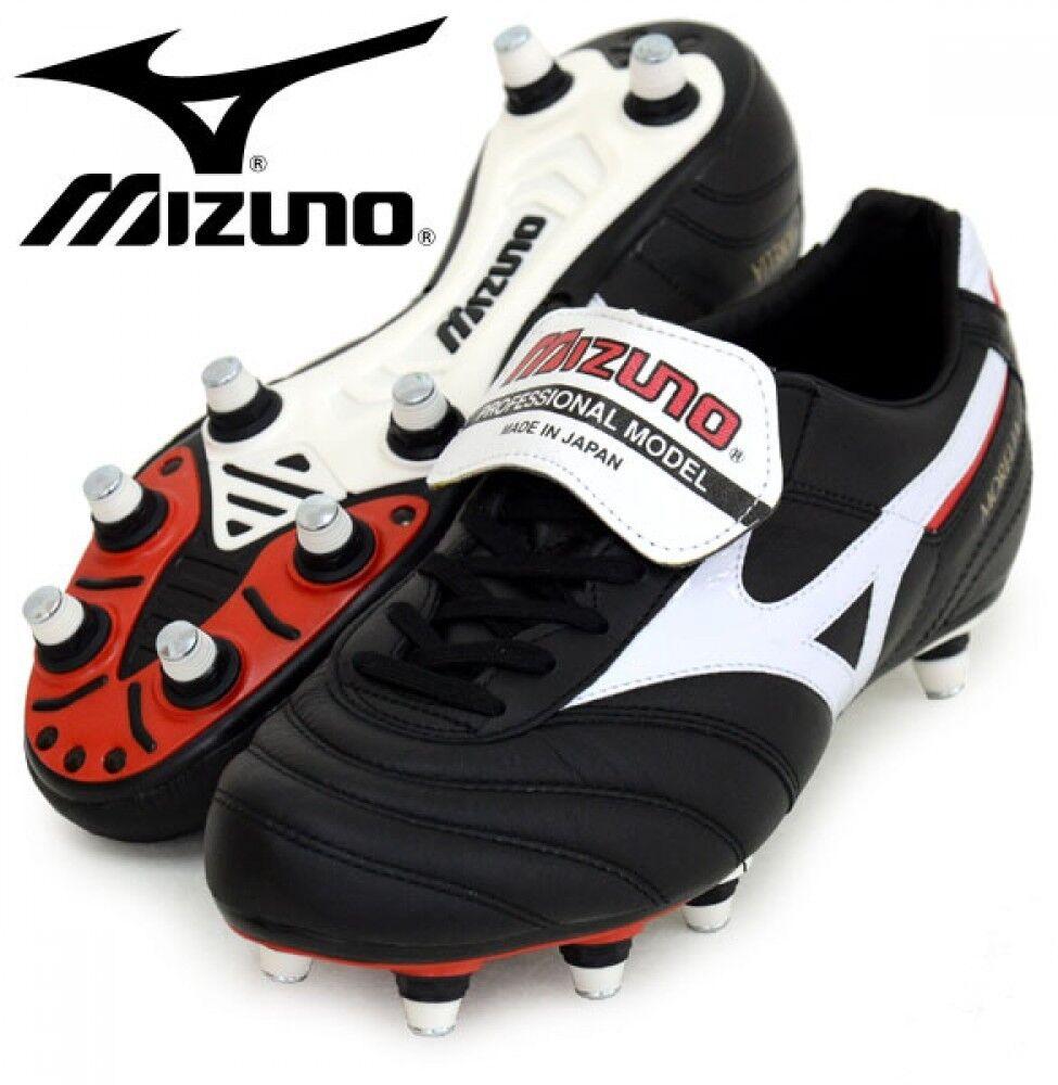 Mizuno Morelia 2 SL Fútbol Zapatos P1GC1501 Negro De Cuero De Canguro Hecho En Japón