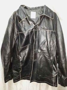 purchase cheap c163f f23c5 Dettagli su Giubbotto Pelle Uomo Inverno Nero Conbipel Freeheron Jacket  Jacke Made ITA