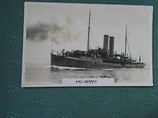 VINTAGE HMS HEARTY - SURVEYING SHIP - ROYAL NAVY RP POSTCARD