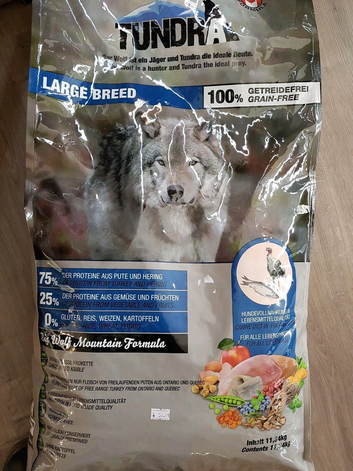 11,34 kg Tundra Large Breed1kg=
