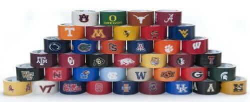 College Football Licensed Duck Brand Duct Tape Rolls!! Pick your Team!!