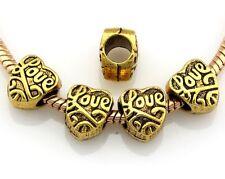 30pcs Antique Gold Tone Girl Dangle Charms Fit European Bracelet J126
