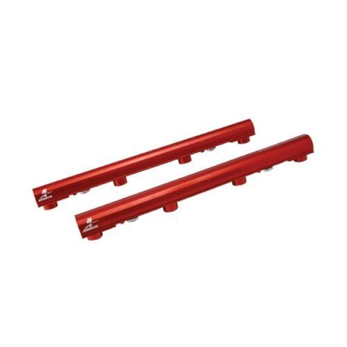 Aeromotive Fuel Rails P//N:14116 05-10 Ford Mustang GT V8 4.6L Billet Red