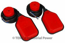 2 pcs TEMCo Liquid or Water Level Float Switch Sensor Sump Tank Controller LOT