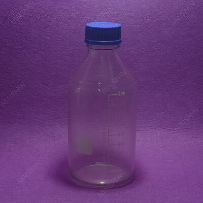 1000mL Amber Brown Lab Glass Reagent bottle w cap autoclavable heavy wall
