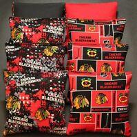 Chicago Blackhawks Cornhole Bean Bags 8 Aca Regulation Toss Bags Nhl Fans Gift