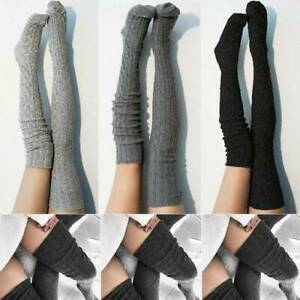 Women-Winter-Cable-Knitted-Long-Socks-Over-Knee-Thigh-High-Stockings-Leggings