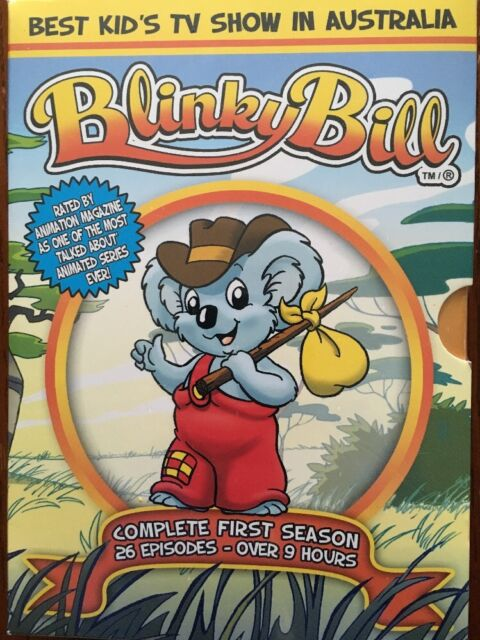 NEW Blinky Bill Season 1 One RARE region 1 3 DVD box set Australian animation