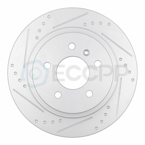 Front and Rear Discs Brake Rotors Ceramic Pad For 2006-2011 Cadillac DTS Slotted
