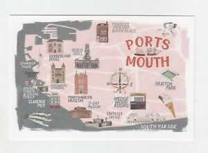 Mint-Map-Postcard-of-Portsmouth-by-Star-Editions