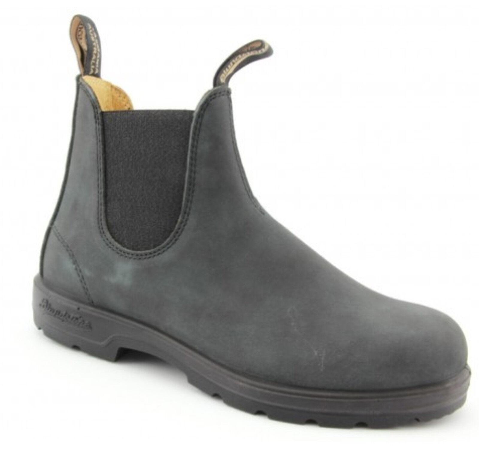 Azulndstone 587 botas de Chelsea Australiano Estilo-Negro Nubuck