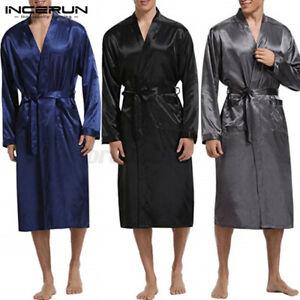 Mode Hommes Pyjama en soie de kimono Kimono robe de soirée un peignoir Pyjamas