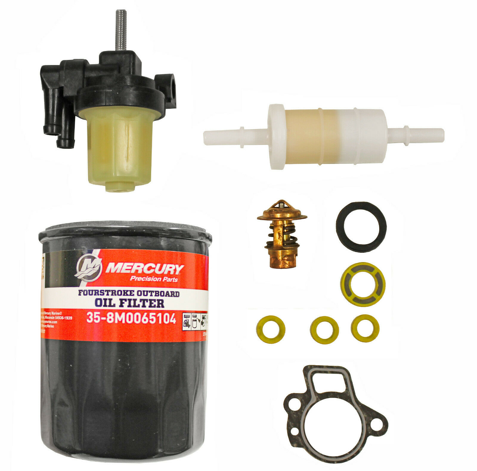 Orig. Mercury Wartungsset 40 50 60PS Ölfilter Benzinfilter Thermostat 8M0090558