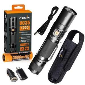 Fenix-UC35-V2-0-2018-1000-Lumen-Rechargeable-Tactical-Flashlight-w-USB-Adapters