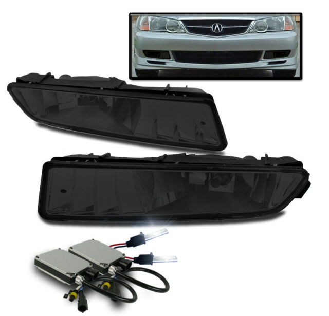 FOR 2002-2003 ACURA TL SMOKE BUMPER DRIVING FOG LIGHTS W