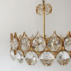 Gorgeous mid century palwa crystal glass chandelier pendant lamp image is loading gorgeous mid century palwa crystal glass chandelier pendant aloadofball Image collections