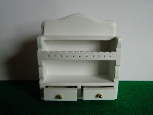 Casa delle Bambole in Legno Bianco Da Cucina Armadio da appendere H1.16