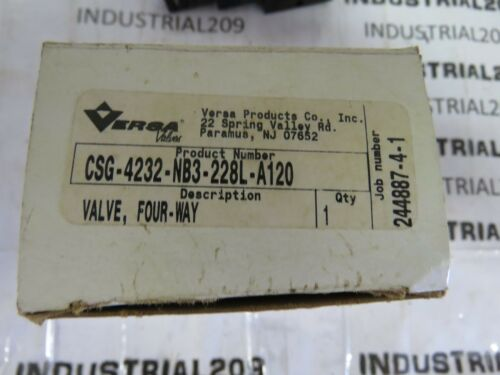 VERSA SOLENOID VALVE CSG-4232-NB3-228L-A120 NEW IN BOX