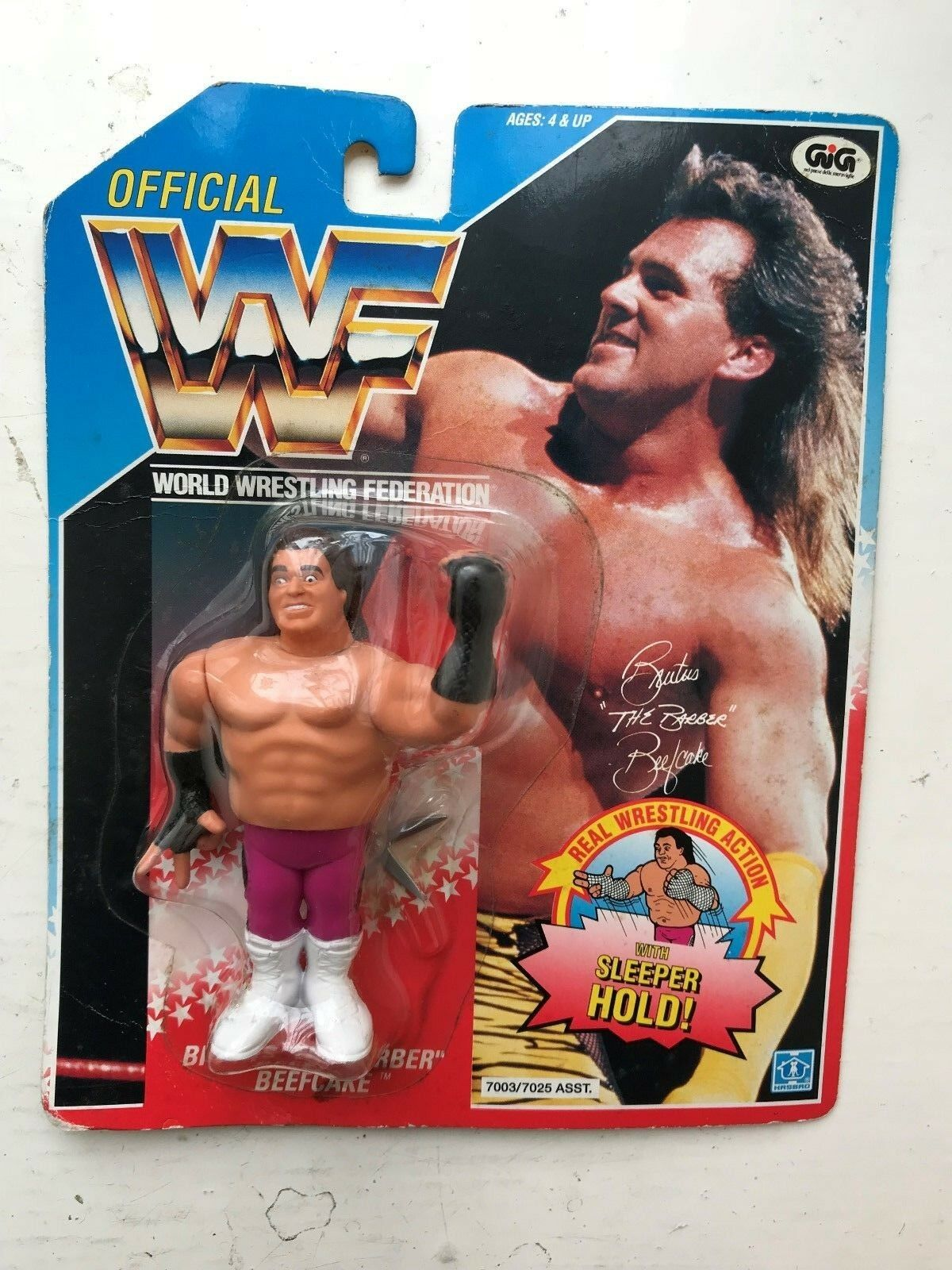 RARO IN SCATOLA WWE Bruto bellimbusti HASBRO WWF WRESTLING FIGURE SERIE 1 1991
