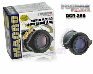 RAYNOX DCR-250 Super Macro Conversion CLOSE-UP LENS 52mm 55mm 58mm 67mm map