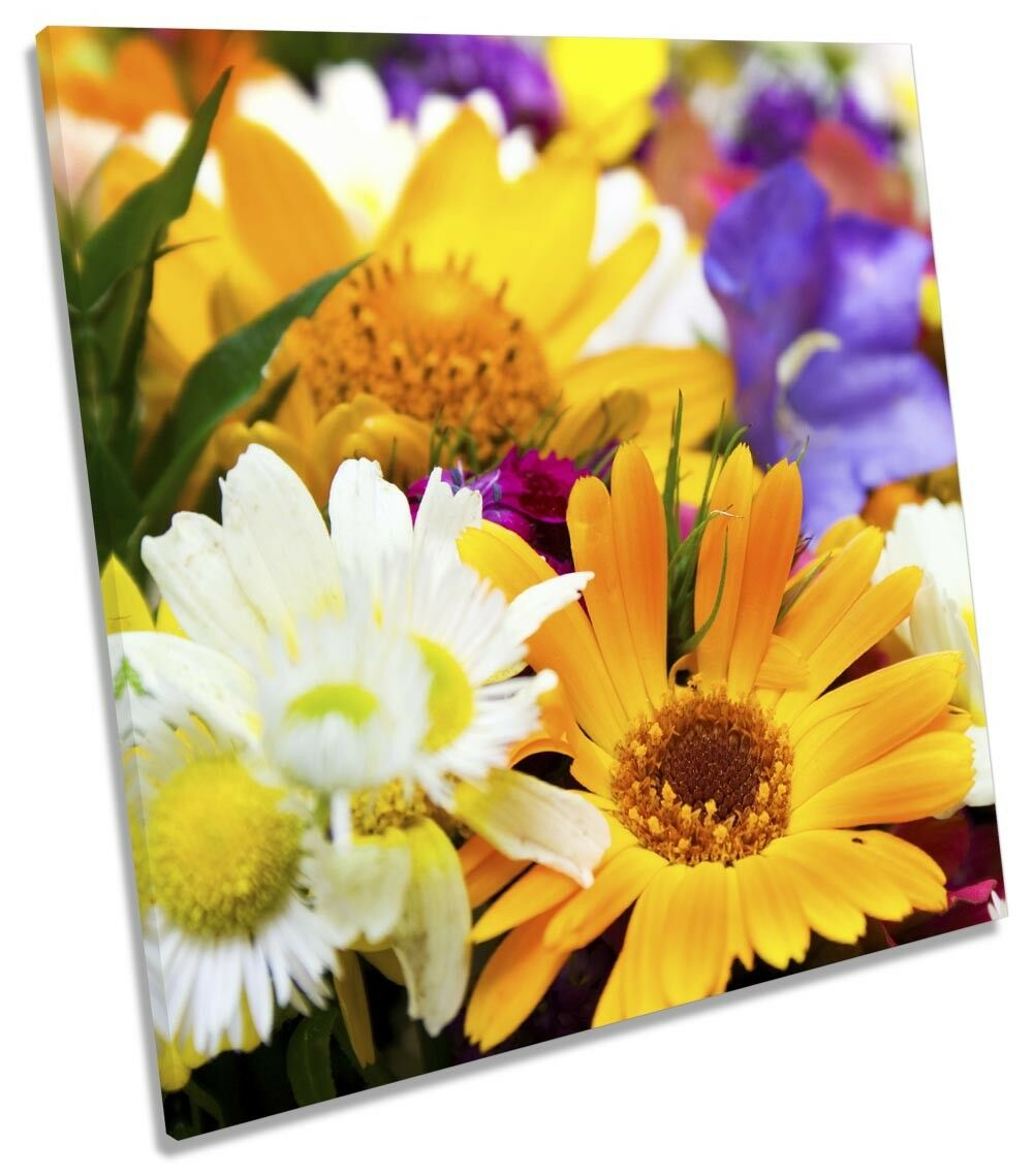 Bouquet di fiori floreale ART. a Muro Immagine Stampa quadrato