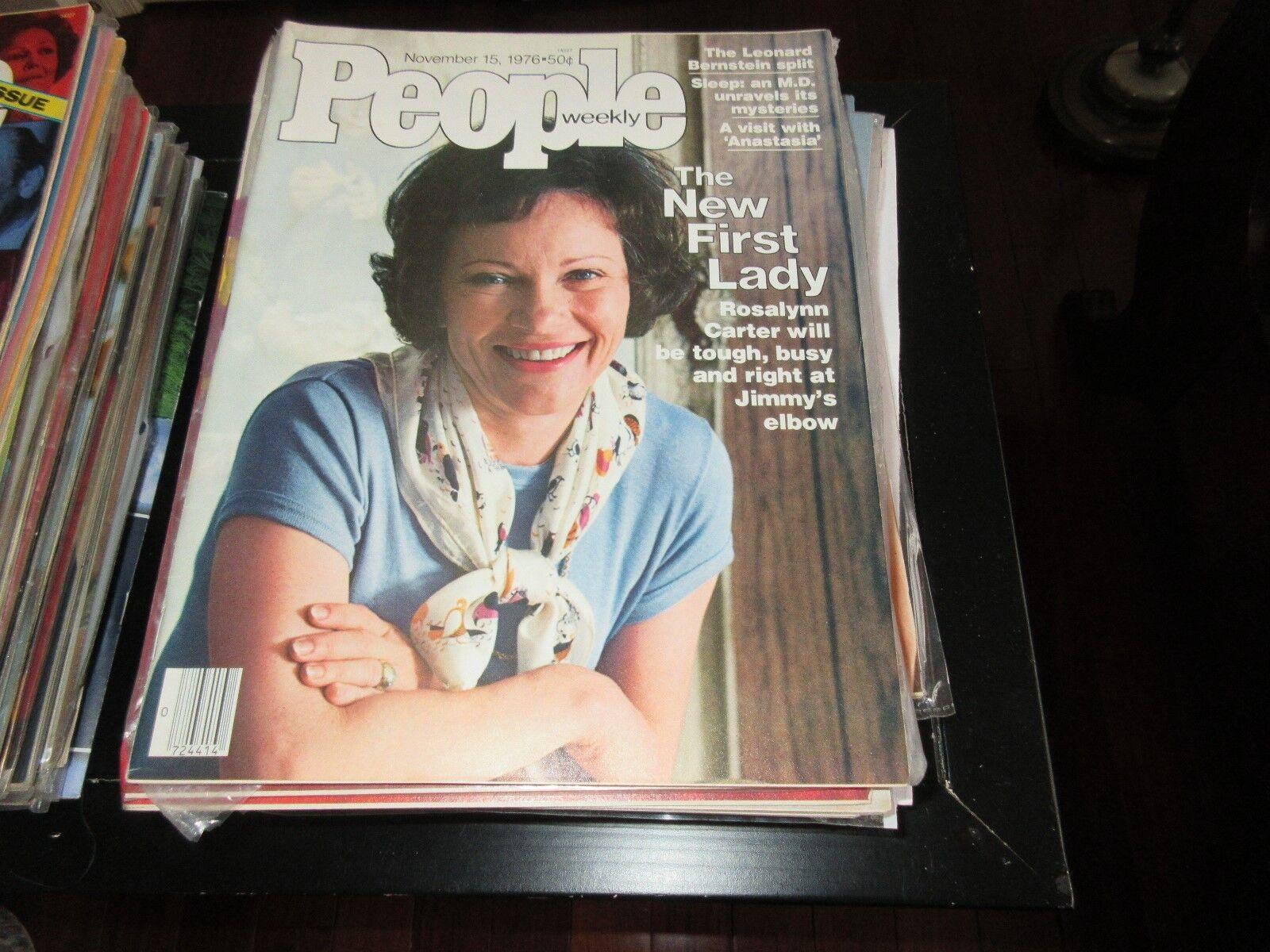 PEOPLE MAGAZINE , 11/15/76, Rosalynn Carter , Leonard B