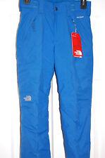 the north face boys freedom insulated snow pants skiing ski blue medium 10/12