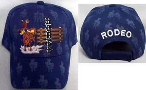 """""""rodeo"""" Horse Rider Cow Boy Baseball Caps Embroidered (rodeo48 +)"""