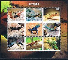 Bloc Sheet Reptiles Lezards Lizards   Neuf  MNH  ** Bhutan 2016 Private local