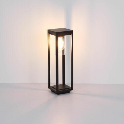LED sur Pied Lampe Noir Filament Embase Extérieur Jardin Loin Aluminium Lanterne