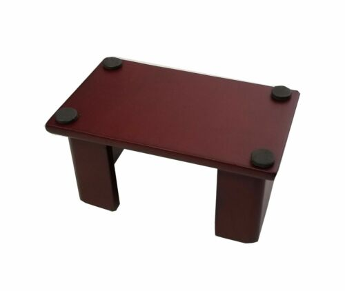 """for 4/"""" Round or Square Style Coasters Coaster Holder Wood Dark Mahogany Finis"""